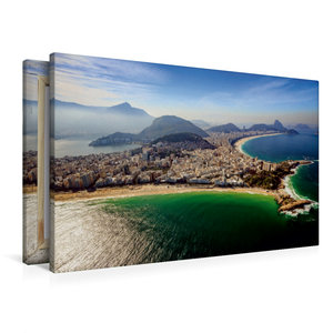 Premium Textil-Leinwand 90 cm x 60 cm quer Copacabana