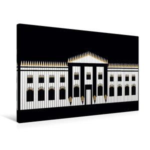 Premium Textil-Leinwand 75 cm x 50 cm quer Weißes Haus, USA