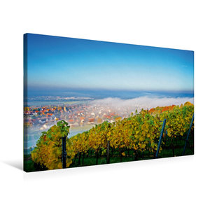 Premium Textil-Leinwand 75 cm x 50 cm quer Herbstlicher Reuschbe