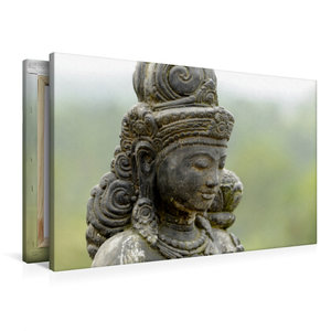 Premium Textil-Leinwand 90 cm x 60 cm quer Diese Statue beschütz