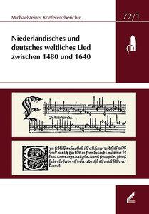 Niederländisches und deutsches weltliches Lied zwischen 1480 und
