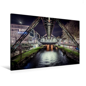 Premium Textil-Leinwand 120 cm x 80 cm quer Schwebebahnstation W