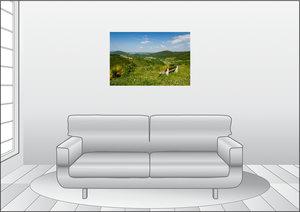 Premium Textil-Leinwand 90 cm x 60 cm quer Aussicht ins Lennetal