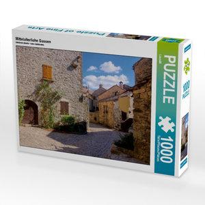 Mittelalterliche Gassen 1000 Teile Puzzle quer
