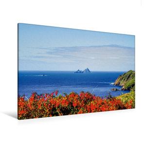 Premium Textil-Leinwand 120 cm x 80 cm quer Skellig Rocks, Irlan