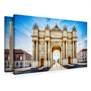 Premium Textil-Leinwand 75 cm x 50 cm quer Brandenburger Tor - P