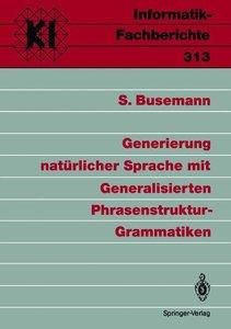 Generierung natürlicher Sprache mit Generalisierten Phrasenstruk