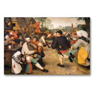 Premium Textil-Leinwand 90 cm x 60 cm quer Bauerntanz - 1568
