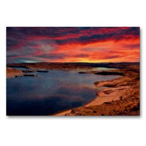 Premium Textil-Leinwand 90 cm x 60 cm quer Lake Powell