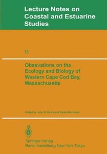 Observations on the Ecology and Biology of Western Cape Cod Bay,