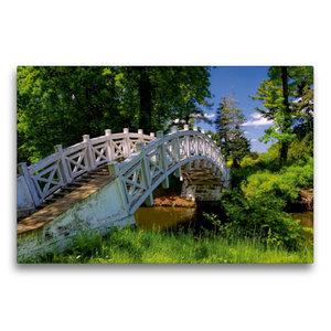 Premium Textil-Leinwand 75 cm x 50 cm quer Chinesische Brücke