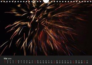 Feuerwerk (Wandkalender 2019 DIN A4 quer)