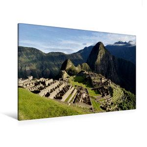 Premium Textil-Leinwand 120 cm x 80 cm quer Machu Picchu - Die I