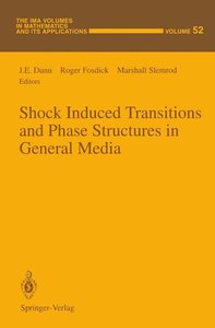 Shock Induced Transitions and Phase Structures in General Media