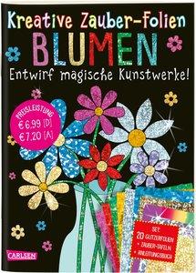 Kreative Zauber-Folien: Blumen: Set mit 10 Zaubertafeln, 20 Foli
