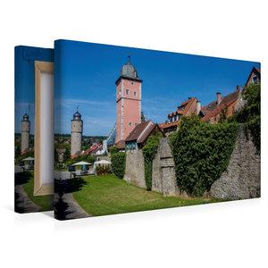 Premium Textil-Leinwand 45 cm x 30 cm quer Stadtmauer Ochsenfurt