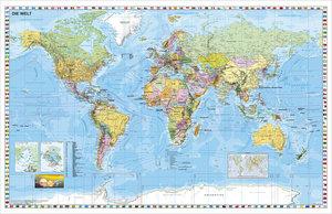 Weltkarte (deutsch) Großformat. Poster