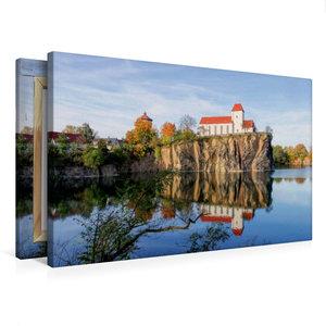 Premium Textil-Leinwand 75 cm x 50 cm quer Bergkirche Beucha