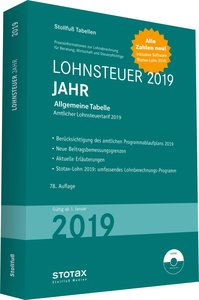 Tabelle, Lohnsteuer 2019 Jahr