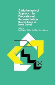A Mathematical Approach to Proportional Representation: Duncan B