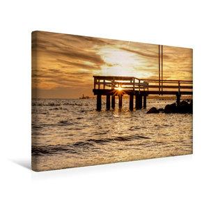 Premium Textil-Leinwand 45 cm x 30 cm quer Sonnenuntergang