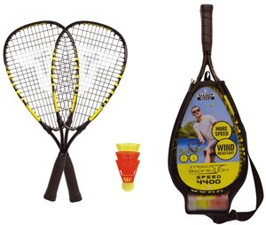 Talbot Torro 490114 - Speed-Badminton-Set SPEED 4400, 2 Alu-Rack