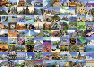 99 Beautiful Places on Earth. Puzzle 1000 Teile