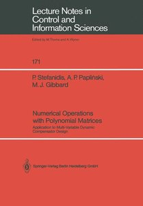 Numerical Operations with Polynomial Matrices