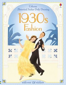 Historical Sticker Dolly Dressing 1930s Fashion