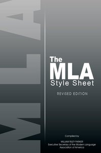 The MLA Style Sheet