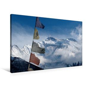 Premium Textil-Leinwand 90 cm x 60 cm quer Annapurna Himal - Ann