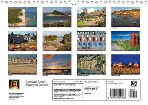 Cornwall - Devon Somerset Dorset (Wandkalender 2019 DIN A4 quer)