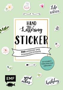 Handlettering-Sticker - 500 Sprüche und Schmuckelemente
