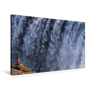 Premium Textil-Leinwand 90 cm x 60 cm quer Fotograf am Dettifoss