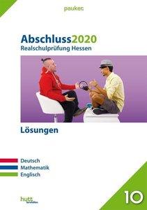 Abschluss 2020 - Realschulprüfung Hessen - Lösungen