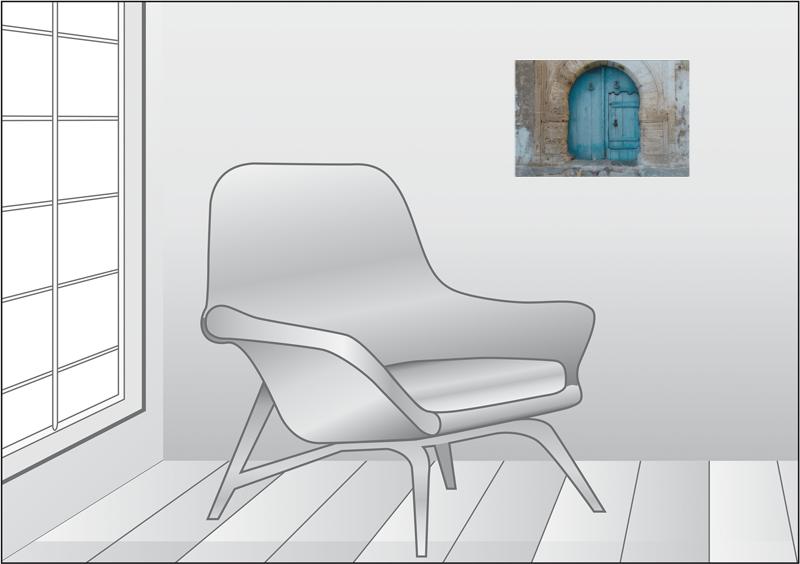 Premium Textil Leinwand 45 Cm X 30 Cm Quer Blaue Hinterhof Tur