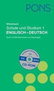 PONS Wörterbuch für Schule und Studium Englisch 1. Englisch - De