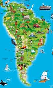 Erlebnis illustrierte Weltkarte Planokarte