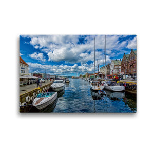 Premium Textil-Leinwand 45 cm x 30 cm quer Bergen