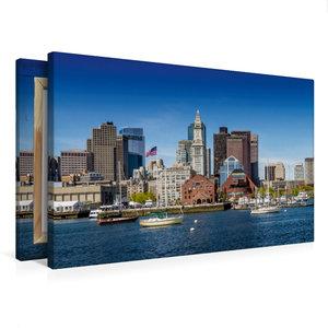 Premium Textil-Leinwand 75 cm x 50 cm quer BOSTON Skyline