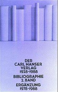 Der Carl Hanser Verlag 1978 - 1988