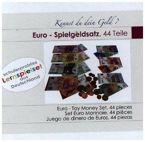 EURO-Spielgeldsatz, 22 Münzen und 22 Scheine aus Kunststoff