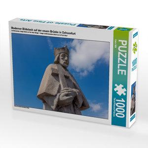 Moderner Bildstock auf der neuen Brücke 1000 Teile Puzzle quer