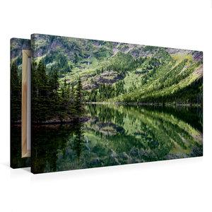 Premium Textil-Leinwand 75 cm x 50 cm quer Lake O\'Hara