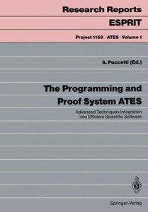 The Programming and Proof System ATES