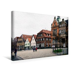Premium Textil-Leinwand 45 cm x 30 cm quer Historischer Marktpla