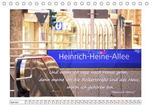 Düsseldorfer Ansichten mit Zitaten von Heinrich Heine (Tischkale
