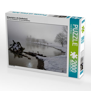 Winteridylle in St. Bartholomä 2000 Teile Puzzle quer