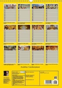 Buddhas Familienplaner (Wandkalender 2019 DIN A3 hoch)