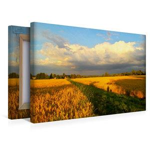 Premium Textil-Leinwand 45 cm x 30 cm quer Wolkenspiel - Gewitte